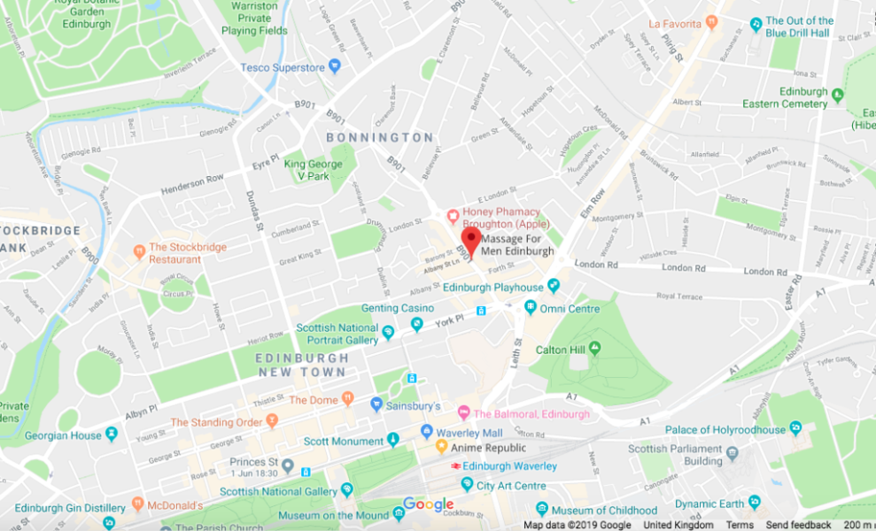 Massage For Men Map Broughton Street Edinburgh