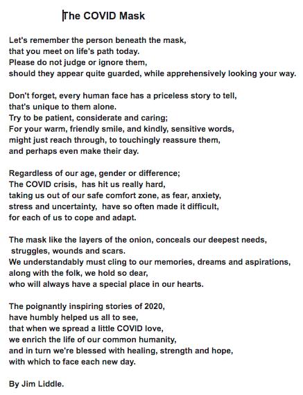 The COVID Mask poem imageCOVID19 Pandemic Crisis & Massage Practice from Massage For Men Edinburgh image