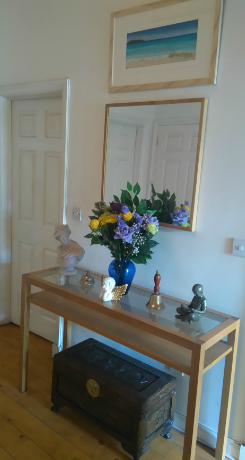 Image of Hall table and Mirror for Massage For Men Edinburgh