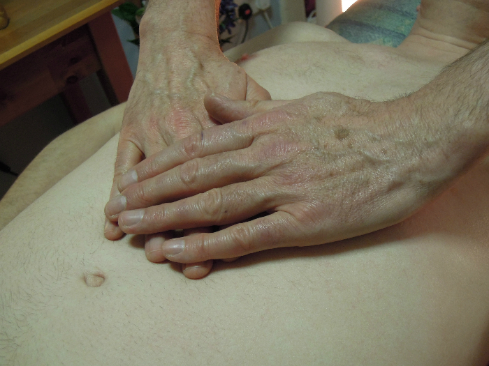 Image of Hands on Chest Holistic Sacred Sensual Tantric Massage For Men Edinburgh with Jim