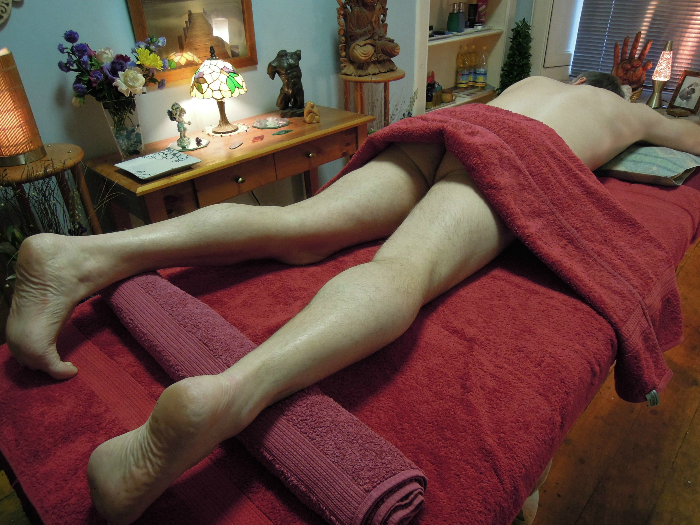 Male body on massage table Holistic Sacred Sensual Tantric Massage for Massage For Men Edinburgh with Jim