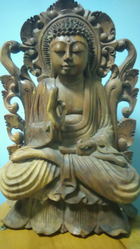 Image of Wooden Buddha for Massage For Men Edinburgh with Jim the holistic bodywork therapist